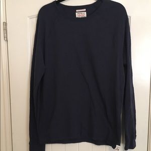 Lucky Brand Thermal Navy Long Sleeve Large